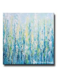 teal blue home decor giclee print art abstract painting light blue aqua modern coastal