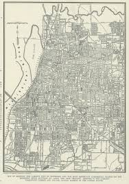 Tennessee City Map by Vintage Map Of Memphis Tennessee From 1937 Original