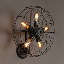 rustic wall sconce lighting industrial retro rustic loft style fan shape wall sconce lighting