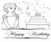 happy birthday from elsa colouring page coloring pages printable