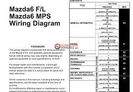 2015 mazda 6 wiring diagram 2015 wiring diagrams instruction