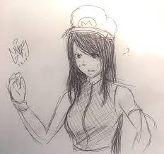 tifa mario sketch by gh0zty on deviantart