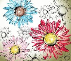 gerbera daisy outline google search makeup hair tattoos