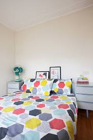 Dulux Natural White Bedroom House Tour A Retro Mod Australian Beach Shack Apartment Therapy
