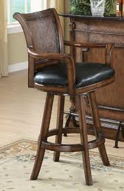 bar stools wood and leather coaster wood and leather bar stool 100174