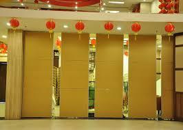 Sliding Door Room Divider Banquet Acoustic Wall Restaurant Aluminum Sliding Doors 65mm