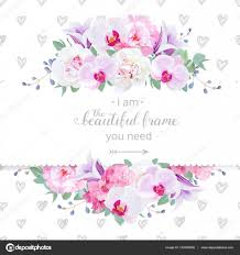 wedding backdrop design vector wedding floral vector design horizontal card pink and white peony