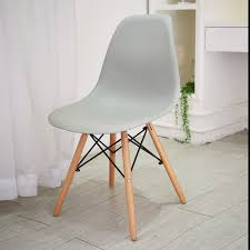 Esszimmerstuhl Kunststoff 4 Stück Grau Stuhl Wohnzimmerstuhl Esszimmerstuhl Kunststoff