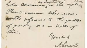 for bid brigade letter penned by lincoln up for bid history in the