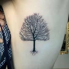 black oak tree on rib side