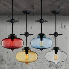 Industrial Glass Pendant Light Sealed Glass Oval Shaped Industrial Pendant Light Beautifulhalo