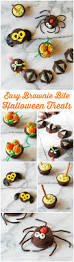 Vegetarian Halloween Appetizers 5 Easy Halloween Treats Made With Brownie Bites