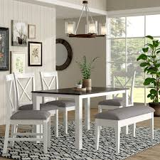 6 piece dining table and chairs laurel foundry modern farmhouse amaury 6 piece dining set reviews