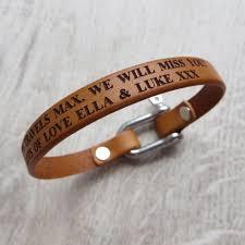 leather bracelet clasp images Personalised leather bolt clasp bracelet gracie collins jpg