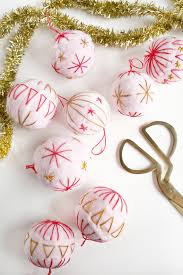 embroidered felt wool ornament diy a beautiful mess