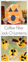 halloween art activities with coffee filters