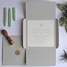 Letterpress Invitations Wax Seal Letterpress Wedding Invitation By Wolf U0026 Ink