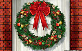 wreaths on doors happy holidays