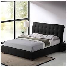 King Size Leather Bed Frame This Luxurious Boston 5ft King Size Black Faux Leather Bed Frame