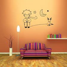 the little prince fox moon star decor mural art wall sticker decal