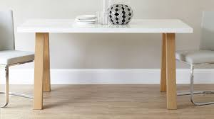 White And Oak Dining Table Modern 6 Seater White Gloss And Oak Dining Table Uk