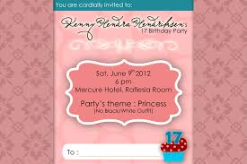 Princess Themed Birthday Invitation Cards Birthday Invites Charming 17th Birthday Invitations Design Ideas