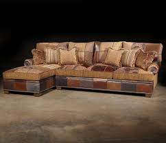 Western Style Furniture Paul Robert Choices Patched Western Sectional Sofa In Traditional