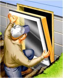 egress window requirements installation of egress window