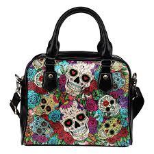 sugar skull shoulder handbag you shop outlet