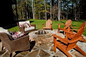 Rustic Firepit Rustic Patio With Exterior Floors By Signature Homes