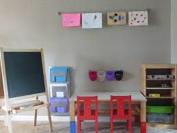 Playroom Storage Furniture by Ikea Art Center Trofast Storage Sansad Table Kritter Chairs