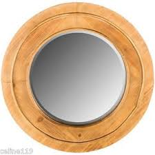 Shabby Chic Mirrors For Sale by Round Natural Wood Wall Mirror 24 Inch Diameter Shabby Chic Home