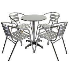 Chrome Bistro Chairs Chrome Bistro Chair Aluminium Stacking Garden Cafe Kitchen Outdoor