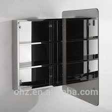 Mirrored Storage Cabinet New Bathroom Cabinet Stainless Steel Single Door Mirrored Storage