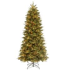 7 5 ft feel real pomona pine slim artificial tree with