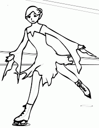 ice skating coloring pages coloring home