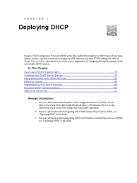 deploying dhcp ip address domain name system