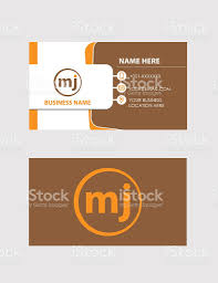 business card design template with logo stock vector art 622449154