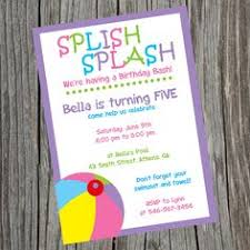 splash pad invitations water park birthday by pinkpickleparties