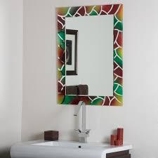 Bathroom Mirrors Over Vanity Bevelled Edge Bathroom Mirror Kavitharia Com