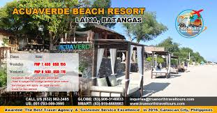 acuaverde resort map acuaverde resort laiya batangas true travel and tours