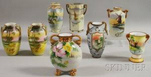 Nippon Hand Painted Vase Search All Lots Skinner Auctioneers