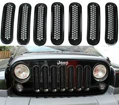jeep wrangler front grill shop 7x front grill mesh grilles insert covers for jeep