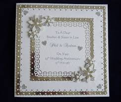 enchanted golden wedding anniversary cards and craft ideas