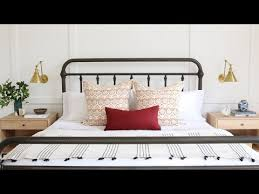 How To Set A Bed How To Style A Bed Webisode Studio Mcgee