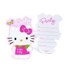 Hello Kitty Birthday Invitation Card Hello Kitty Party Invitations Templates