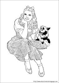 Wizard Of Oz Coloring Pages Free For Kids Wizard Of Oz Coloring Pages