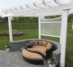 adding a pergola to a curved patio hometalk