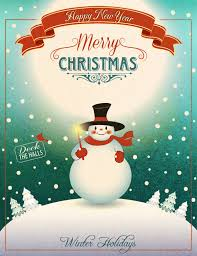 christmas posters christmas snowman poster festival footage vector christmas free