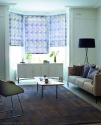 stylish living room using sideboard and decorating bay window with